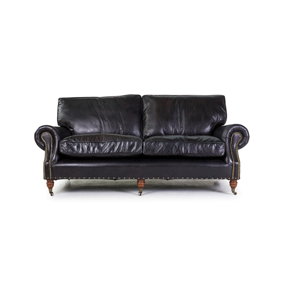 Balmoral Three Seater in Riders Black 1x
