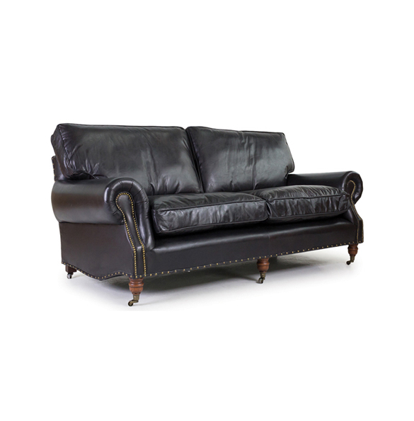 Balmoral Three Seater in Riders Black 3.