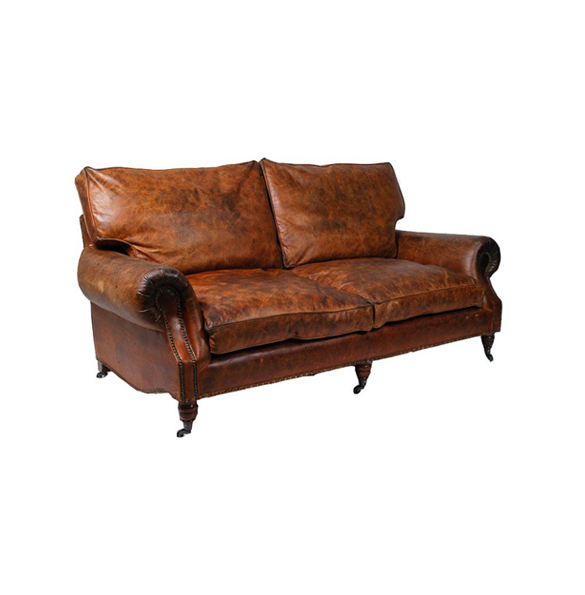 Balmoral Three Seater in Vintage Cigar 1223.