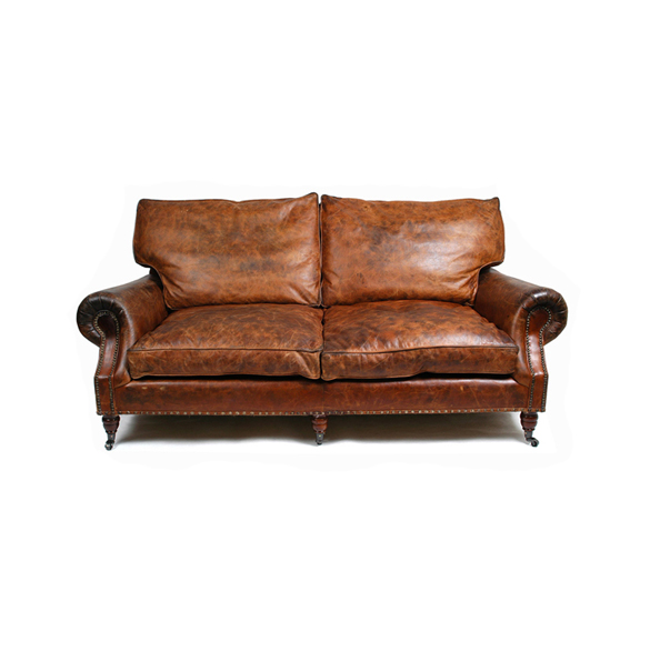 Balmoral Three Seater in Vintage Cigar 3.