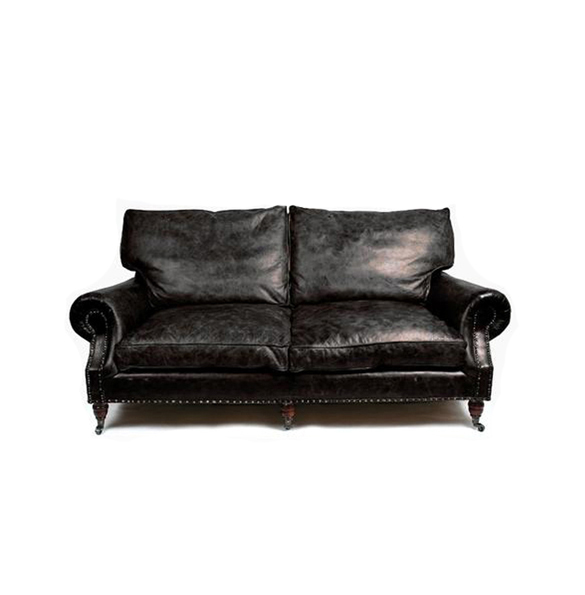 Balmoral Two Seater in Riders Black2