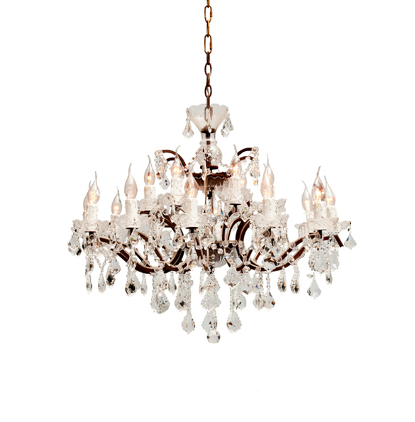 Crystal Medium Chandelier in Antique Rust 2