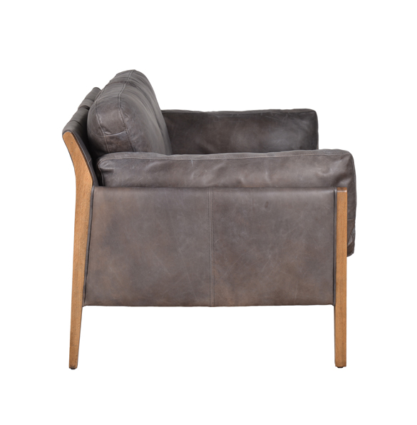 Loffee Two Seater in Destroyed Black and Weathered Oak 7
