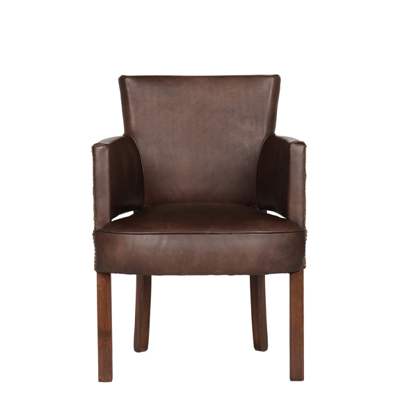 Newark Dining Chair in Riders Cocoa 1.