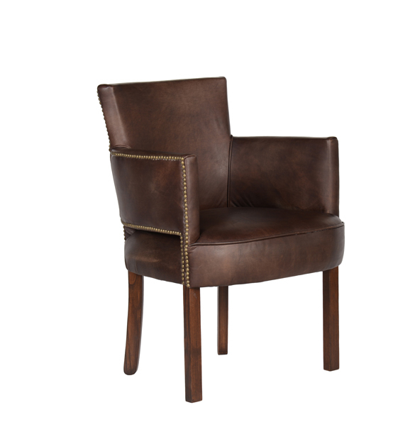 Newark Dining Chair in Riders Cocoa 2.