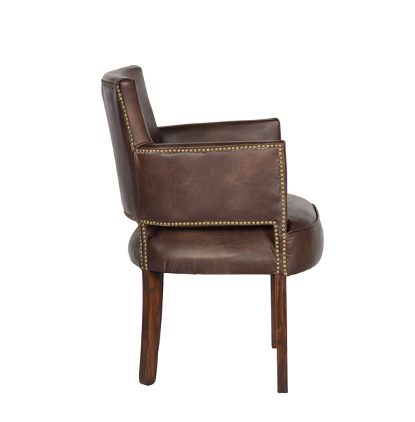 Newark Dining Chair in Riders Cocoa 3.