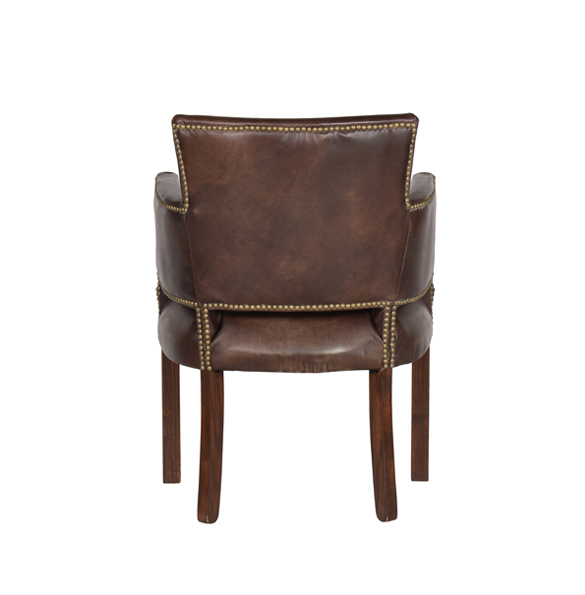 Newark Dining Chair in Riders Cocoa 4.