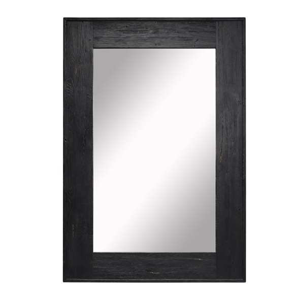 Sandshore Rectangle Mirror in Black 1