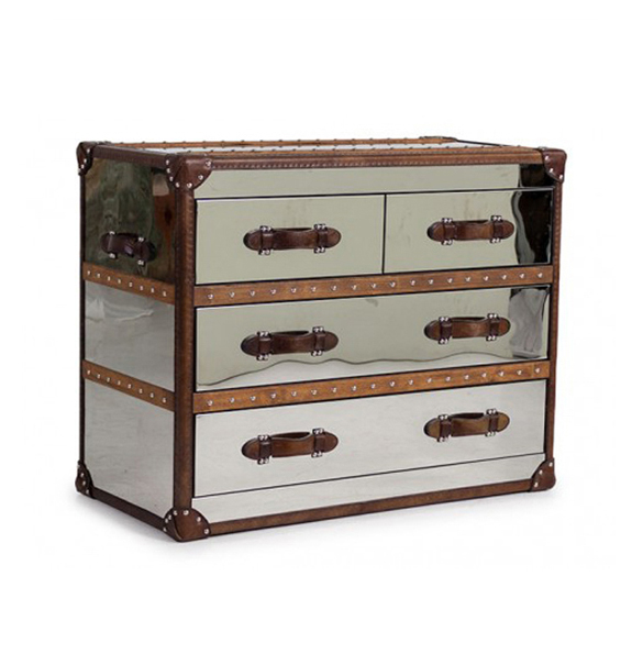 Stonyhurst Medium Chest in Brushed Steel 2.